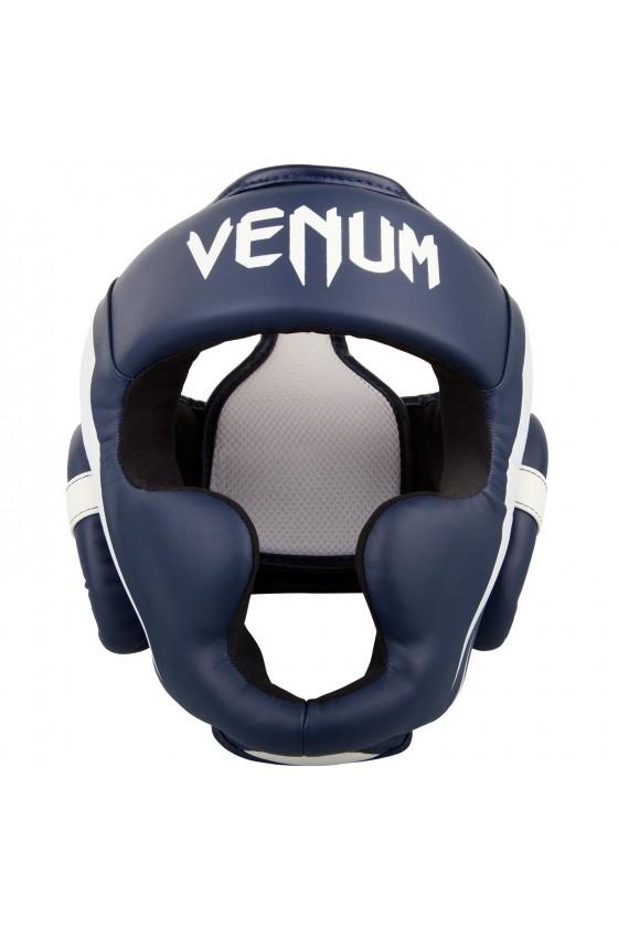 Боксерський шолом Venum Elite Navy Blue / White