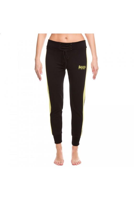 Женские спортивные штаны на шнуровке черные