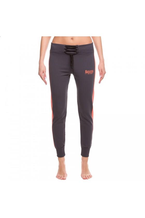 Женские спортивные штаны на шнуровке антрацит