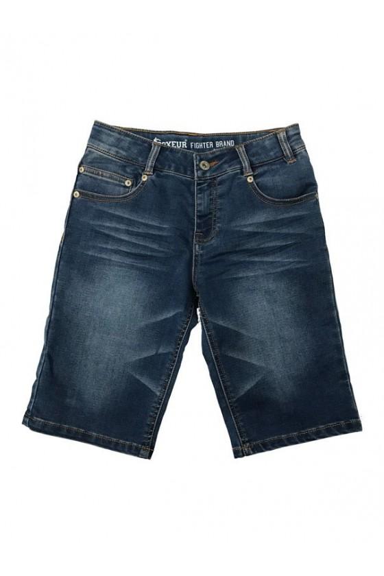 Шорти дитячі джинсові темно-блакитні