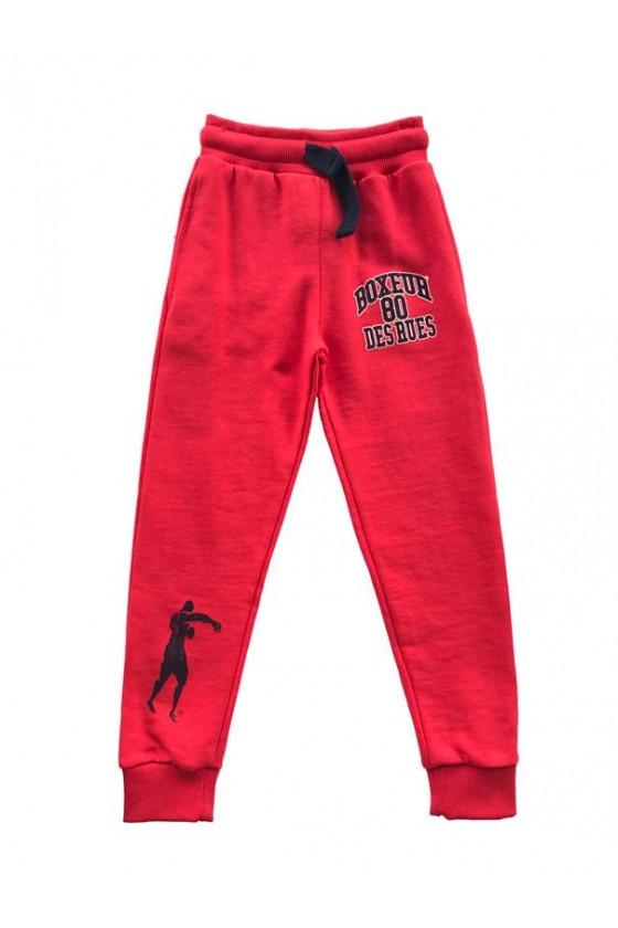 Штани дитячі з логотипом червоні