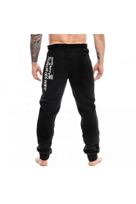 Спортивні штани c нейлоновими вставками чорні