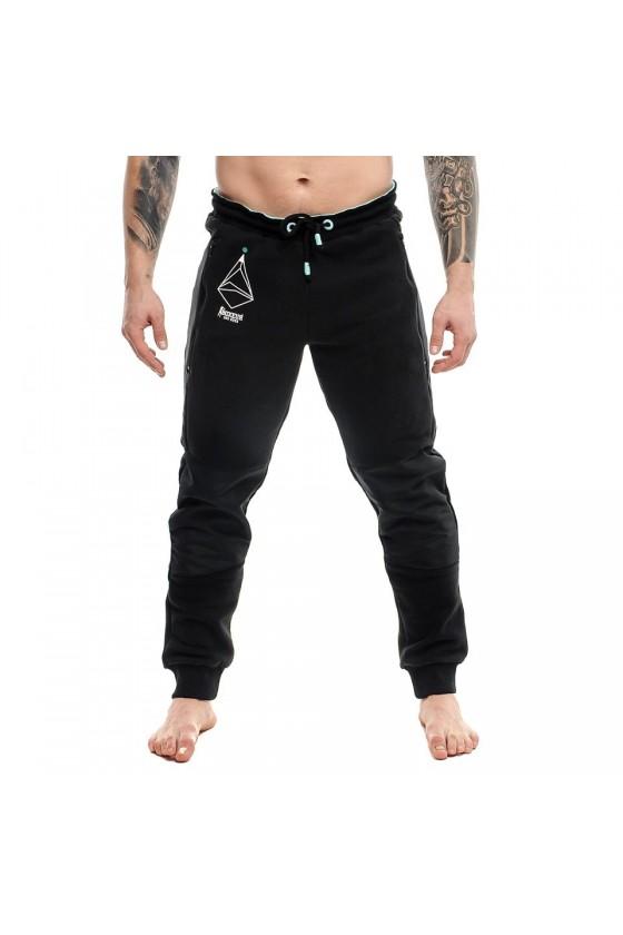 Спортивные штаны c нейлоновыми вставками черные