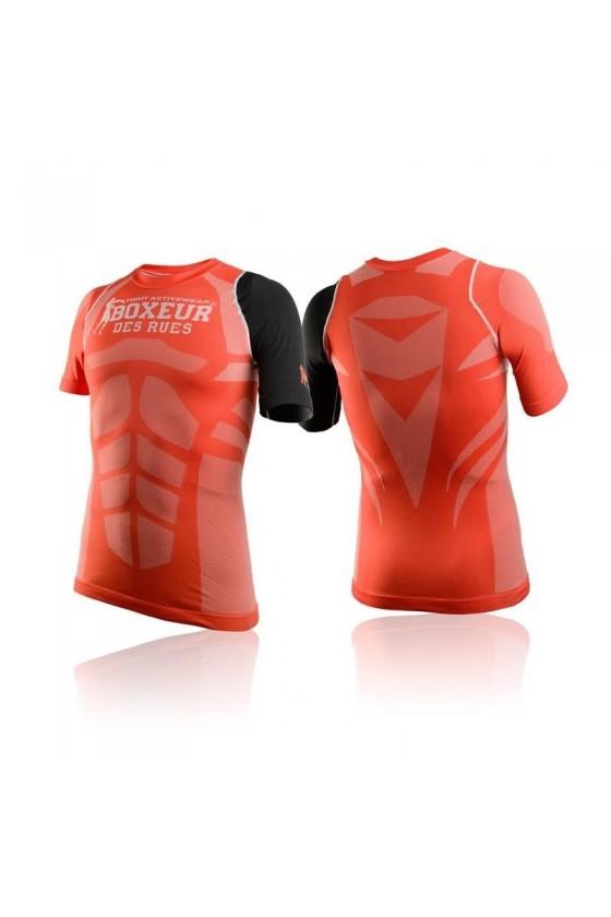 Футболка компресійна з великим логотипом червона