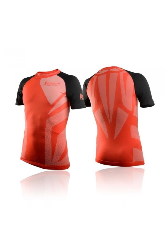 Футболка компрессионная с маленьким логотипом красная