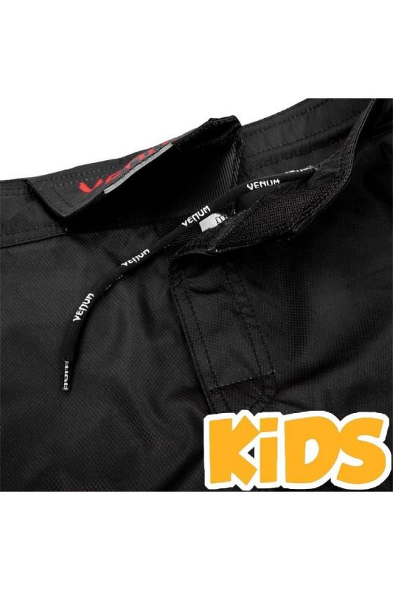 Дитячі ММА шорти Venum Signature Black / Red