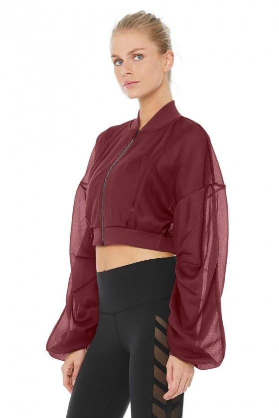 Жіноча курточка Field Crop темно-вишнева