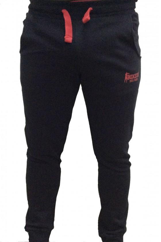 Спортивные штаны с контрастными вставками и боковыми карманами черные