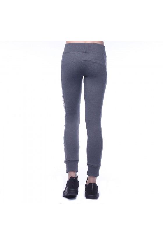 Жіночі спортивні штани з логотипом збоку на лівій нозі антрацит крейда