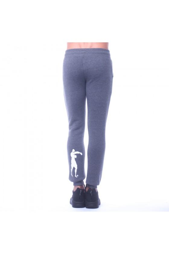 Спортивні штани з логотипом спереду на нозі і ззаду з боксером антрацит крейда
