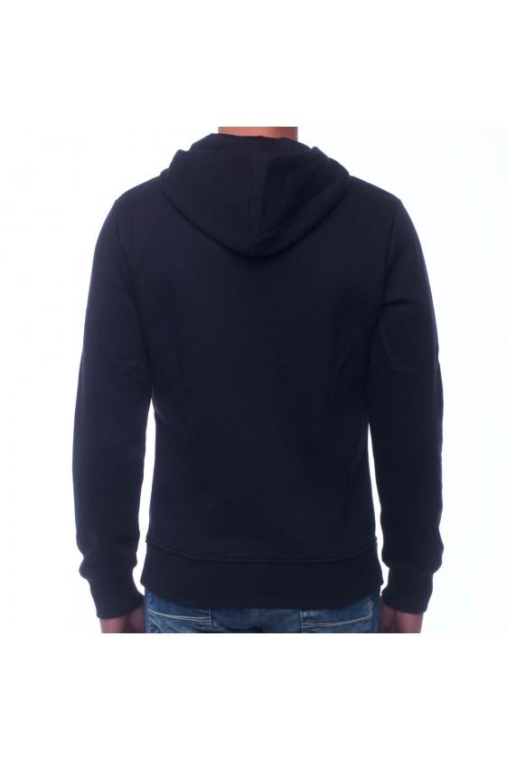 Худи basic с капюшоном и логотипом на груди черная