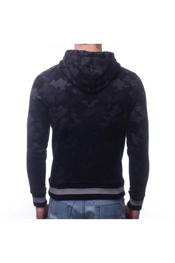 Худи с камуфлированным принтом 3d черная