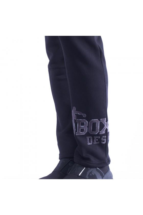 Спортивні штани з логотипом на лівій нозі і боксером ззаду чорні