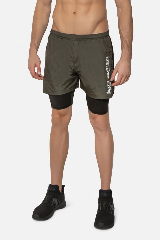 Чоловічі шорти з контрастними вставками army