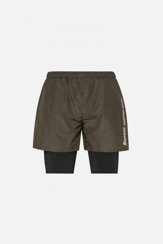 Мужские шорты с контрастными вставками army