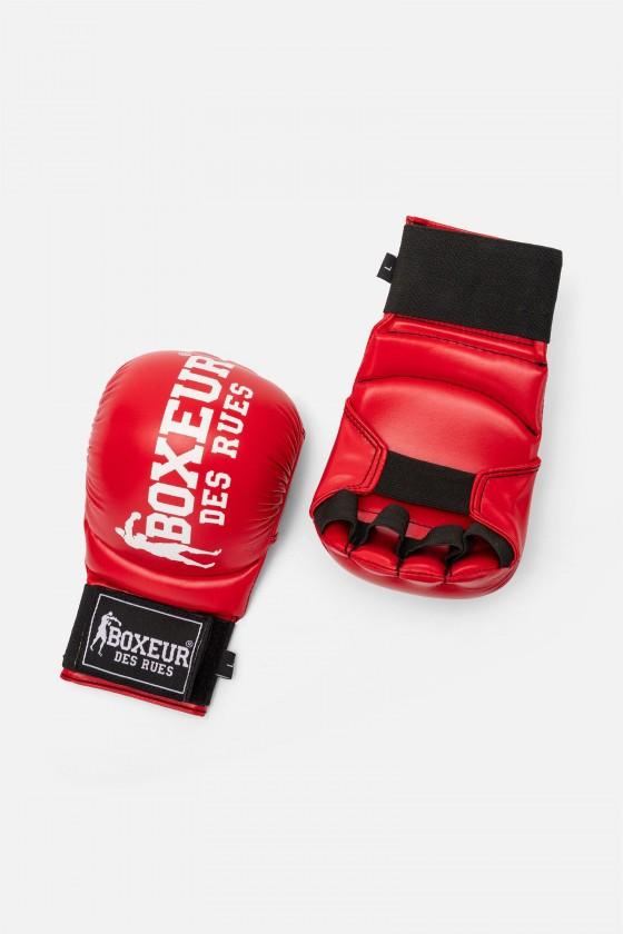 Перчатки для карате и фитбоксинга красные