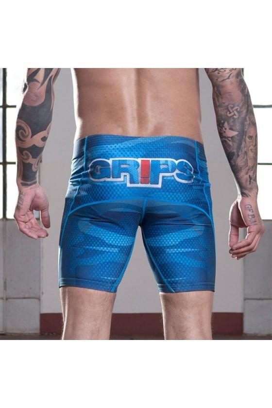 Компрессионные шорты Grips Army Blue
