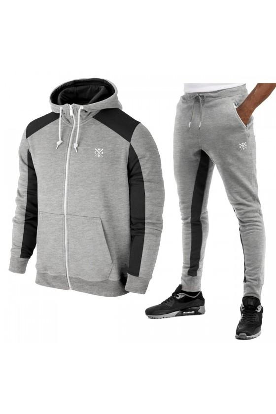 Спортивний костюм Maverick світло-сірий / чорний