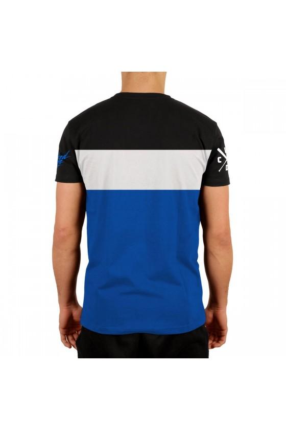 Футболка Stunt черная/голубая