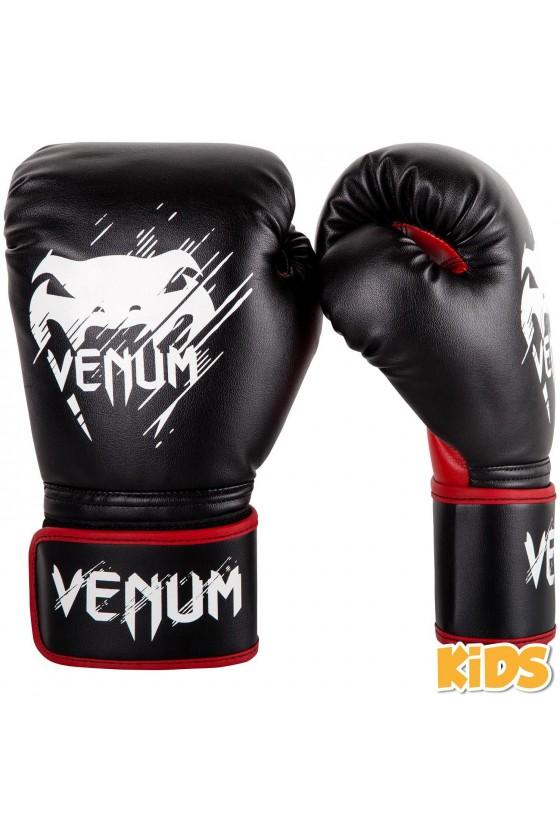 Детские боксерские перчатки Venum Contender Black/Red