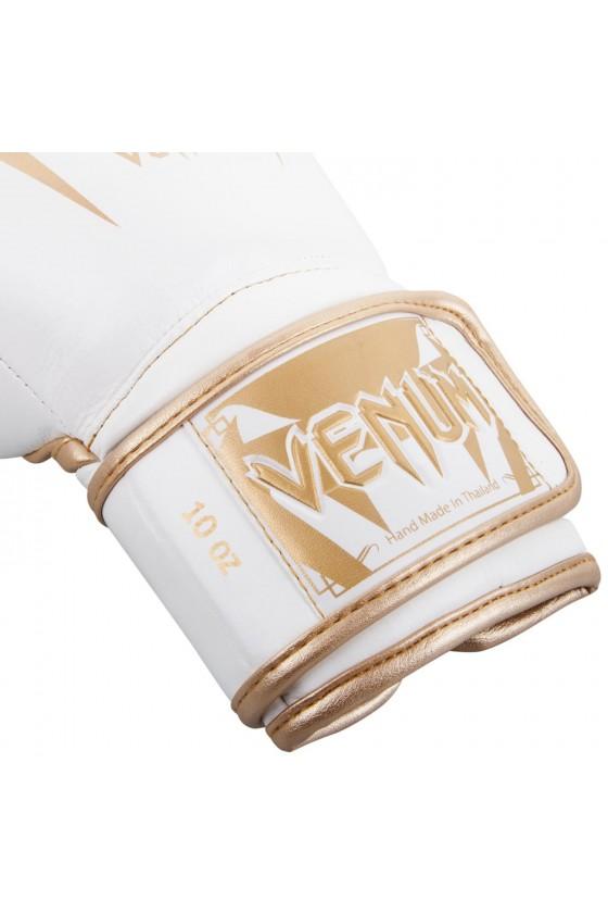 Боксерские перчатки Venum Giant 3.0 Nappa Leather White/Gold