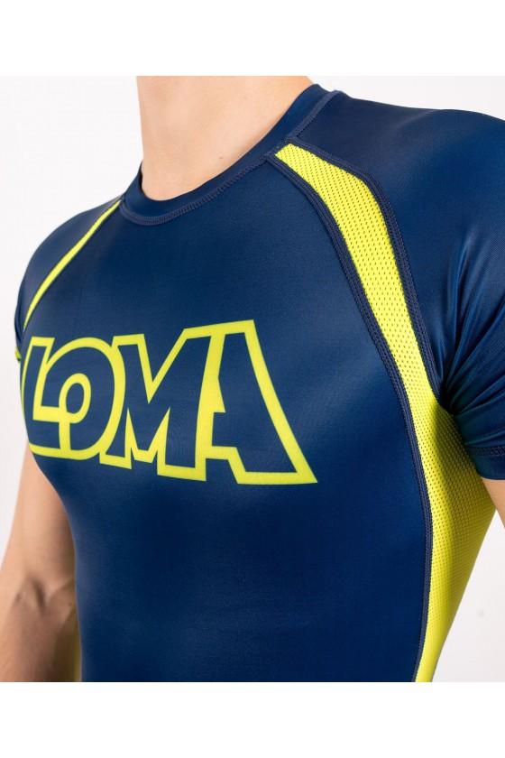 Рашгард Venum Loma ORIGINS Blue/Yellow