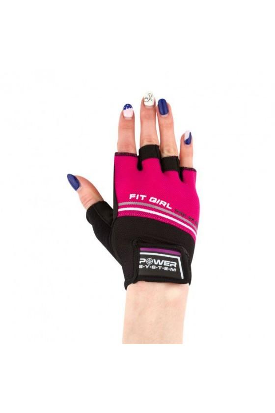 Рукавички для фітнесу Power System Pink