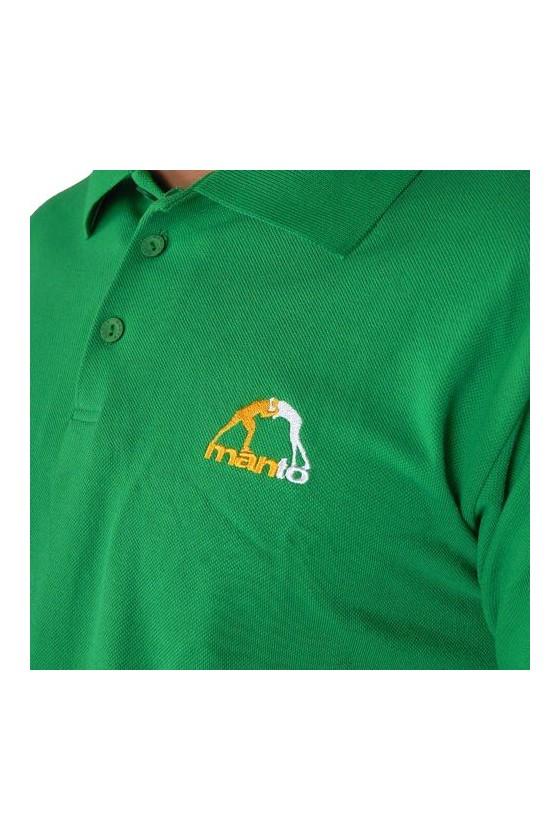 Рубашка-поло manto зеленая
