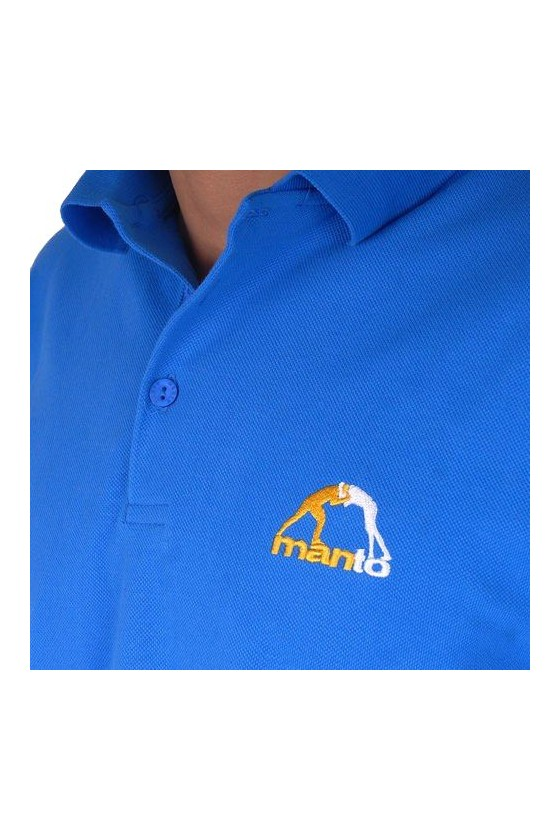 Рубашка-поло manto синяя
